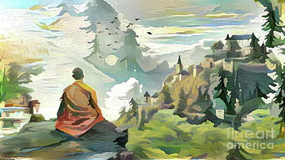 Meditating With Nature Poster