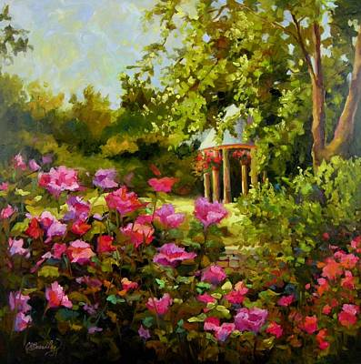 Poster featuring the painting Meet Me In The Garden by Chris Brandley