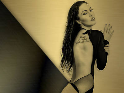 Megan Fox Collection Poster by Marvin Blaine