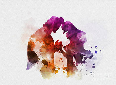Megara And Hercules Poster by Rebecca Jenkins