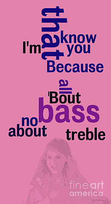 Meghan Trainor,all About That Bass, Ordena Las Palabras Poster by Pablo Franchi