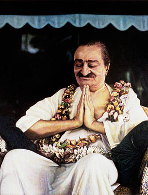 Meher Baba 2 Poster by Nad Wolinska