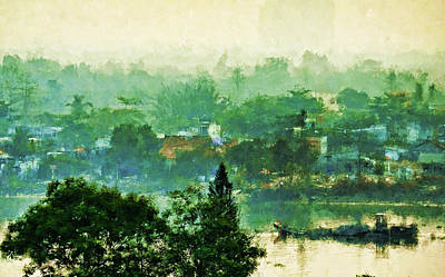 Mekong Morning Poster by Cameron Wood