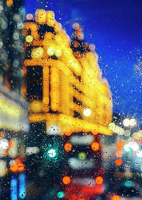 Melancholic London Lights  Poster
