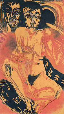 Melancholy Girl  Poster by Ernst Ludwig Kirchner