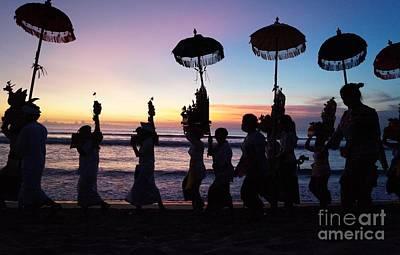 Melasti Festival Ceremony Bali Poster by Timea Mazug