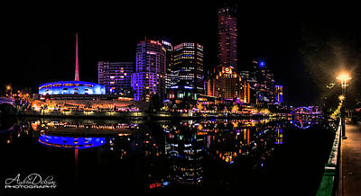 Melbourne By Night Poster