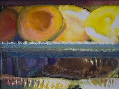 Melon And Pies Pastel Photo Painting Poster by Andy Mars