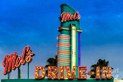 Mels Drive In Poster by Gary Keesler