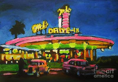 Mels Drive In One Poster by John Malone