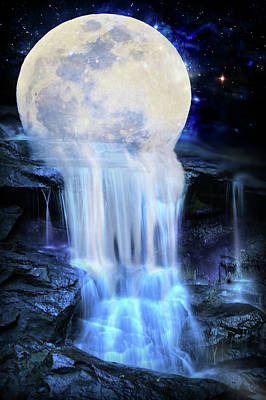 Melted Moon Poster