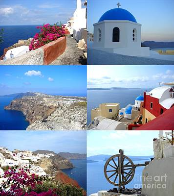 Memories From Santorini Poster by Ana Maria Edulescu