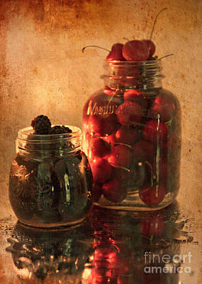 Memories Of Jams, Preserves And Jellies  Poster by Sherry Hallemeier