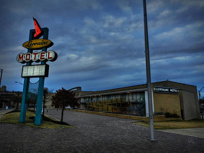 Memphis - Dark Clouds Over The Lorraine Motel Poster by Lance Vaughn
