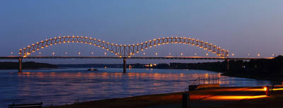 Memphis - I-40 Bridge Over The Mississippi 2 Poster by Barry Jones