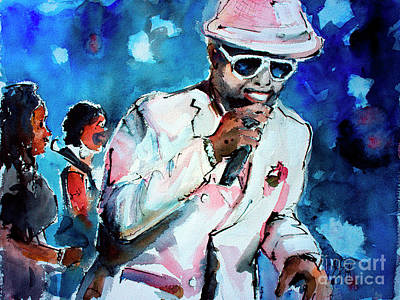 Poster featuring the painting Memphis Music Legend William Bell On Stage 1 by Ginette Callaway