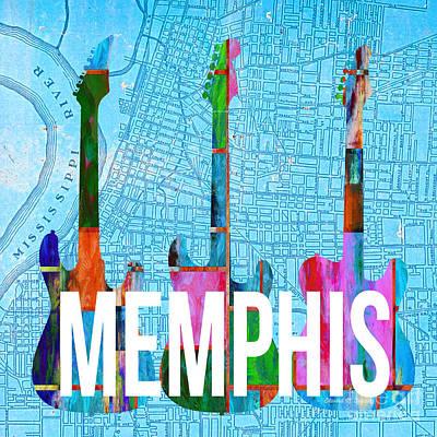 Memphis Music Scene Poster by Edward Fielding