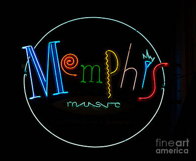 Memphis Neon Sign Poster