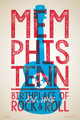 Memphis Tennessee - Birthplace Of Rock N Rll Poster