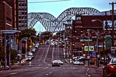 Memphis Tennessee Bridge Poster by Lesa Fine