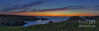 Mendocino Headlands Sunset Poster