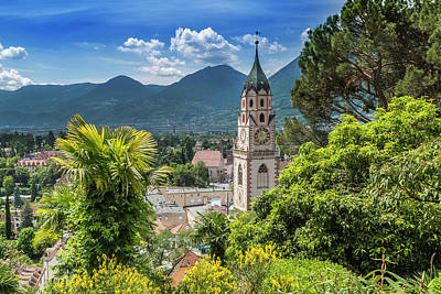 Merano Church Of St Nicholas Poster by Melanie Viola