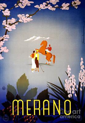 Merano Italy Vintage Travel Poster Restored Poster
