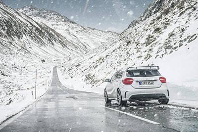Mercedes Benz A45 Amg Snow Poster