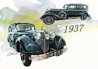 Mercedes Pullman Limousine Poster
