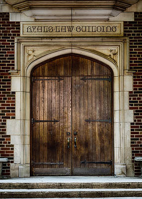 Mercer University - Ryals Law Building Door Poster by Stephen Stookey