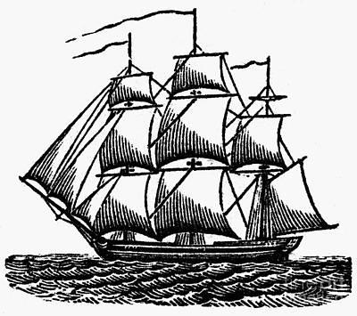 Merchant Ship, C1800 Poster