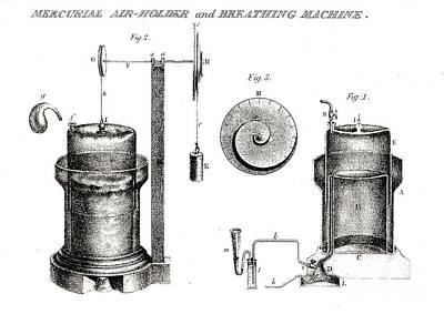Mercurial Air-holder And Breathing Poster by Wellcome Images