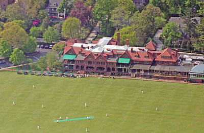 Merion Cricket Club Cricket Festival Clubhouse Poster by Duncan Pearson