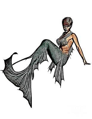 Mermaid, Digital Art By Mb Poster