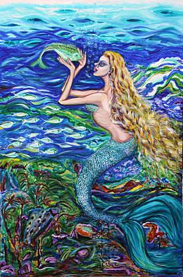 Mermaid Fishnet  Poster