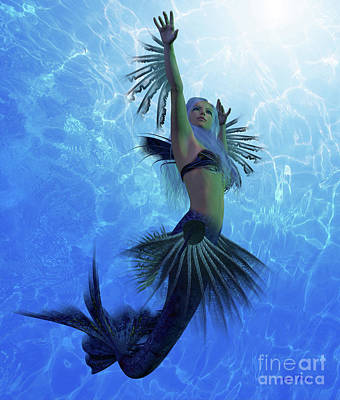 Mermaid Lorelei Poster by Corey Ford