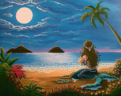 Mermaid Making Leis Poster