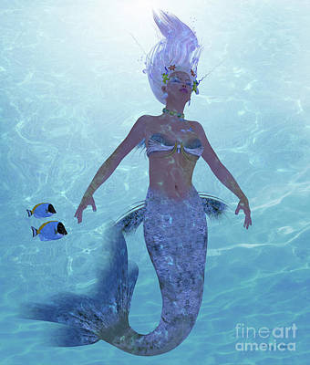 Mermaid Nadja Poster by Corey Ford