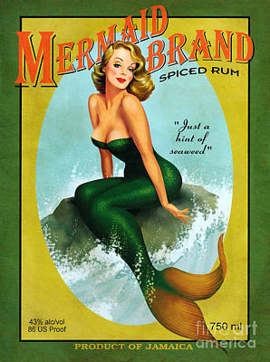 Mermaid Spiced Rum Poster
