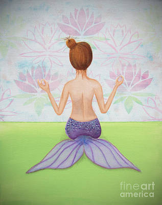 Mermaiditation Poster by Teri Labrousse