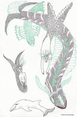 Mermaids And Sea Dragons Poster
