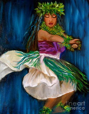 Merrie Monarch Hula Poster by Jenny Lee