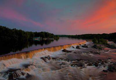 Merrimack River Falls Poster