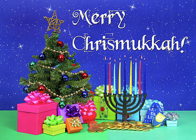 Merry Chrismukkah Poster by Sheila Fitzgerald