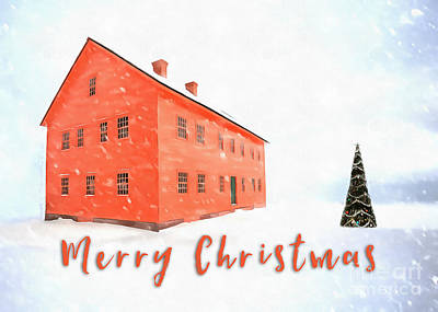 Merry Christmas Card Painting Poster by Edward Fielding