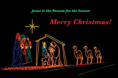 Merry Christmas Poster by Penny Lisowski