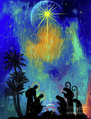 Poster featuring the painting  Merry Christmas To All. by Andrzej Szczerski
