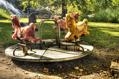 Poster featuring the photograph Merry-go-round by Tamyra Ayles