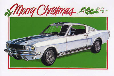 Merry Mustang Poster by Lacey Fox