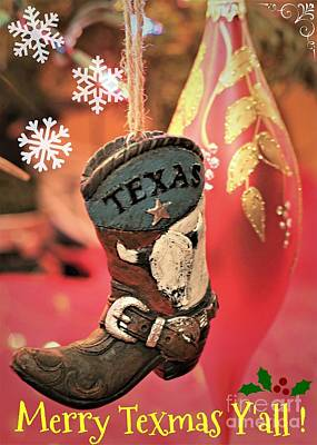 Merry Texmas Yall Poster by Diann Fisher